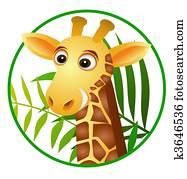 Giraffa immagini clipart giraffa illustrazioni - Cartone animato giraffe immagini ...