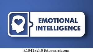 Emotional Intelligence in Flat Design Style.