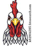 Chicken rooster head mascot