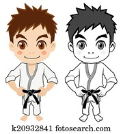 The boy who does martial arts