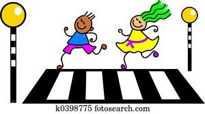 zebra crossing kids