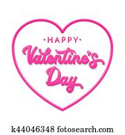Clipart Of Collection Of Stylish Valentine S Day Lettering