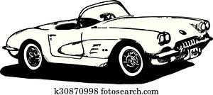 60'S Corvette sketch