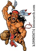 indianische, apache, krieger