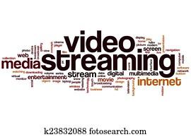 Video streaming word cloud