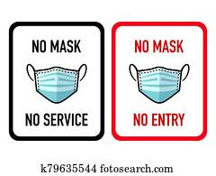 No mask shop stickers