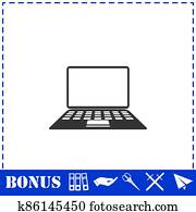 Notebook icon flat