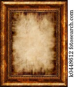 Burnt Antique Framed Parchment