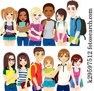 gesellschaft, von, studenten