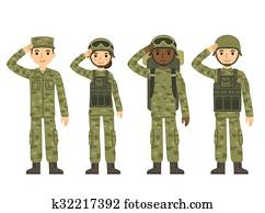 Cartoon army people