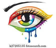 Rainbow Colors Eye