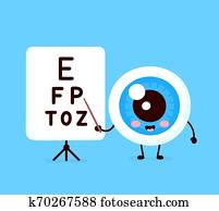 Cute healthy happy human eyeball