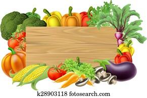 Fresh Vegetable Sign