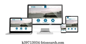 devices isolated mockup responsive web design design