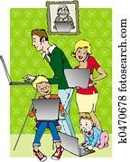 Family on line