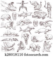 Australia travel - An hand drawn pack
