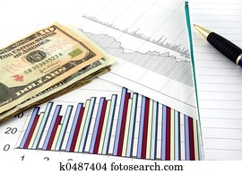 Business Charts with US Money