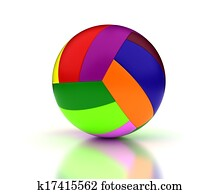 Colorful Volleyball