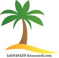 simple cartoon palm tree