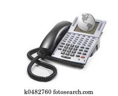 Telephone with globe