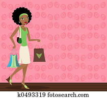 African-American Shopper