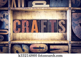 Crafts Concept Letterpress Type