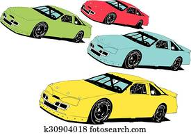 Late Model Stock Race Cars