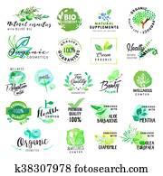Natural cosmetics labels