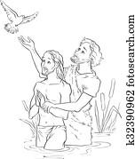 Baptism of Jesus Christ Outlined