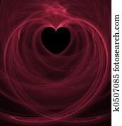 Black Heart Pink Swirls