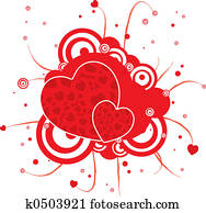 gothic red heart