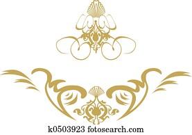swirl shield gold