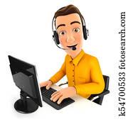 3d man call center