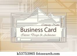 Business Card Interior Design and Architecture. Abstract modern backgrounds