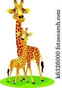 mutter baby, giraffe