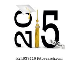 white graduation cap