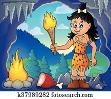 Cave woman theme
