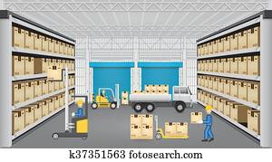 Warehouse vector design