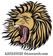 screaming lion vector