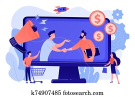 Affiliate marketing concept vector illustration.