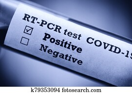 Stock photo of tube with Positive Blood Test(novel Coronavirus 2019 disease, COVID-19,nCoV)