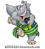 Elephant with microp