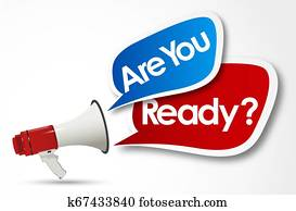 are you ready word and megaphone