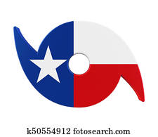 Hurricane Symbol with Texas State Flag