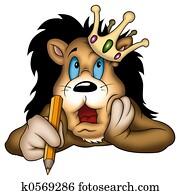 Lion king painter
