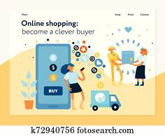 Online Shopping Concept Banner