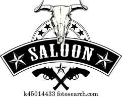 westliche, salon, design
