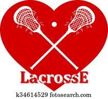 Crossed lacrosse stick