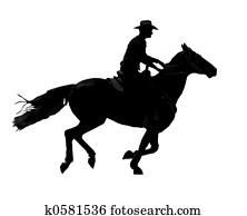 Cowboy Cantering