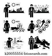 Global Warming Effects Cliparts